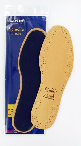 Leather on Charcoal Insoles