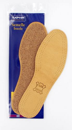 Leather on Cork Insoles SAPHIR